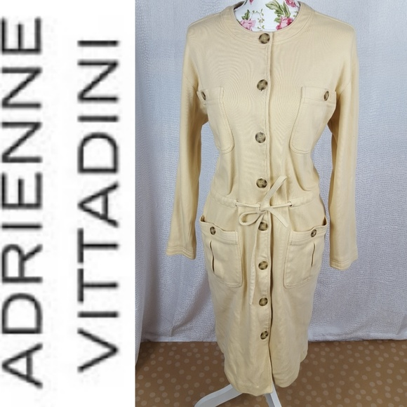 Adrienne Vittadini Dresses Button Down Sweater Dress Poshmark